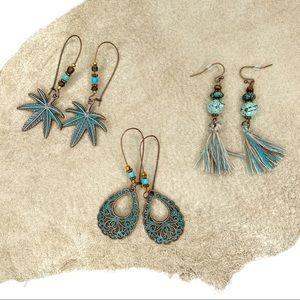 3pc Bohemian Dangle Earring Bundle